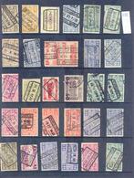C055  Lotje Perfins Spoorwegzegels   30 Stuks - Lochung