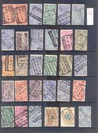 C057  Lotje Perfins Spoorwegzegels   30 Stuks - Lochung