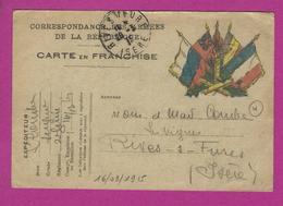 CARTE FRANCHISE MILITAIRE Pour RIVES SUR FURES - Poststempel (Briefe)