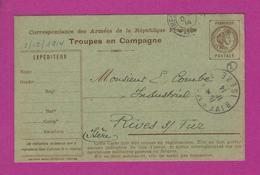 CARTE FRANCHISE MILITAIRE Secteur 141 Pour RIVES SUR FURES - Guerre De 1914-18