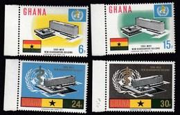 Ghana 1966 / Inauguration Of WHO Headquarters, Geneva / Mi 257-260 / MNH - Ghana (1957-...)