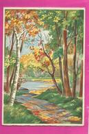 CP Double - BARRE-DAYEZ N° 12549 B Sous Bois Menant à L'étang - Postkaarten