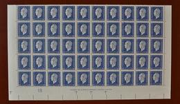 France - 1945 - Superbe Bloc De 50 Valeurs - Marianne De Dulac 60c. Bleu-gris - Y&T N° 686 ** - THOMAS DE LA RUE & COMP. - 1944-45 Marianne Of Dulac
