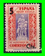 SELLO CORREOS, HOGAR ESCUELA HUERFANOS DE CORREOS 1 Pta. SOBRECARGADO 5 Ctm. AÑO 1939. NUEVO. SOBRECARGADO - Nationalist Issues