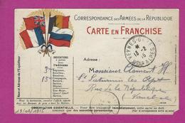 CARTE FRANCHISE MILITAIRE VEYNES GARE Pour ST SATURNIN LES APT - Poststempel (Briefe)