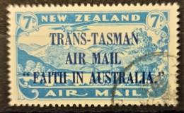 "NEW ZEALAND 1934 - Canceled - Sc# C5 - Trans-Tasman Air Mail ""Faith In Austalia"" - Poste Aérienne"