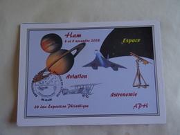 CPM 80 - HAM - 28 ème Exposition Philatélique - 8 Et 9 Novembre 2008 - Aviation Astronomie Espace Concorde - Ham