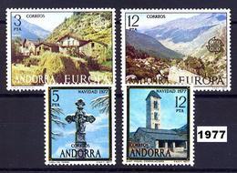 Andorra 108/111 ** 1977 Año Completo - Spanish Andorra