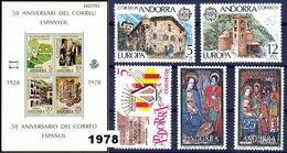 Andorra 112/121 ** 1978 Año Completo - Spanish Andorra