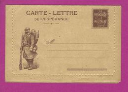 CARTE LETTRE FRANCHISE MILITAIRE  Semeuse - Guerre De 1914-18