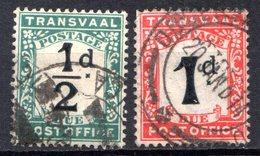 TRANSVAAL - (Administration Britannique) - 1907 - TAXE - N° 1 Et 2 - (Lot De 2 Valeurs Différentes) - (Chiffre) - Sud Africa (1961-...)