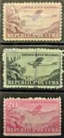 CUBA 1931-46 - Canceled - Sc# C12, C13, C14 - Air Mail - Luftpost