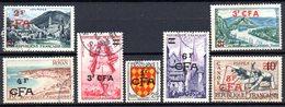 Réunion: Yvert N° 307/319°; 7 Valeurs - Réunion (1852-1975)