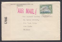 1938-1952. BERMUDA.  Georg VI. Country Motives. 7½ D On Cover From  HAMILTON BERMUDA ... (MICHEL 109) - JF322716 - Bermudas