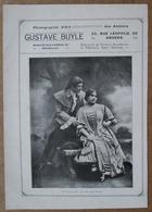 Photographie Gustave Buyle 20 Rue Léopold Anvers / 6 Photos D'artistes Du Théâtre Royal D'Anvers  + Voir Description - Publicités
