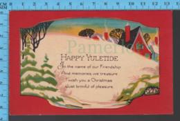 CPA Christmas -Happy Yuletide..- Pub. Christmas 6  - Postcard, Carte Postale - Autres