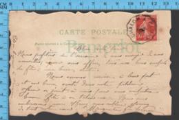 """Semeuse 10c , Aff: Decagone """" Chalon à Gluny, Carte Postale, De St-Gengoux ... Mes Amitiées, Decoupis - Storia Postale"""
