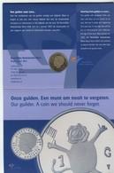 NETHERLANDS 1 G 2001 THE LAST NIKKEL GULDEN COMMEMORATIVE COIN UNC+ORIGINAL SET FDC (1) - Netherlands
