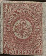 Newfoundland Scott #18, 1861, No Gum, Hinged - Newfoundland