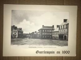 29 - GUERLESQUIN - Carte Double Volet De 1975 Avec Représentation Du Village En 1900 - Guerlesquin