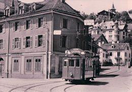 Trambahn St Gallen, Linie Stocken - Heiligkreuz, Tramway Union-Platz, Publicité Suchard, Photo 1910 Retirage (97a 05) - SG St. Gall