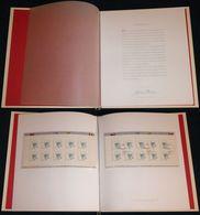 "Bund Europe: Ministerbuch / Minister-Präsentationsmappe Mi.-Nr. 2185: "" Europa 2001 "" RR ! - Cartas"