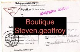 Camp De Prisonniers- Kriegsgefangenenlager -  Lettre Colis Camille Petit / Guy Beaugency Stalag 7/05/1941 Mai - 1939-45