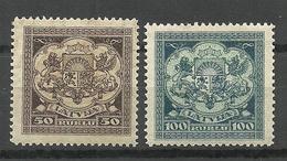 LETTLAND Latvia 1922 Michel 87 - 88 * - Lettonie