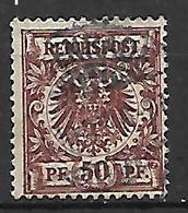 GERMANIA REICH IMPERO 1889  CIFRA  E AQUILA IN UN  CERCHIO UNIF.50 USATO VF - Allemagne