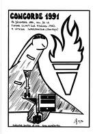 LARDIE (JIHEL) - A2 - Concorde 1991 (vol De La Flamme Olympique  Athène) - Illustrateurs & Photographes