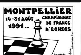 LARDIE (JIHEL) - A2 - MONTPELLIER 1991 - Championnat De France D'Echecs - Illustrateurs & Photographes