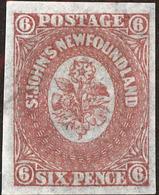 Newfoundland Scott #20, 1861, No Gum, Hinged - Newfoundland