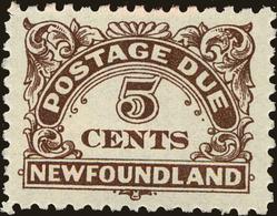 Newfoundland Scott #J5, 1939, Hinged - Newfoundland