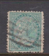 New Zealand SG 184 1878 Side Face Queen,One Shilling Green,used - 1855-1907 Colonia Britannica