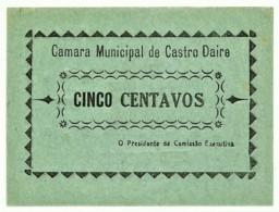 CASTRO DAIRE - Cédula De 5 Centavos - M.A. 647a - 1922 - Portugal - Emergency Paper Money Notgeld - Portugal