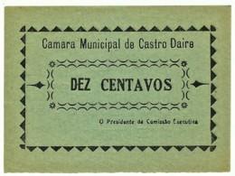 CASTRO DAIRE - Cédula De 10 Centavos - M.A. 648a - 1922 - Portugal - Emergency Paper Money Notgeld - Portugal