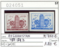 Afghanistan - Postes Afghanes - Michel 458-459 B - ** Mnh Neuf Postfris - UNO - Afghanistan