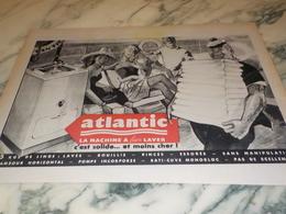 ANCIENNE PUBLICITE POUR MACHINE A BIEN  LAVER ATLANTIC 1960 - Autres Appareils