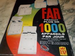 ANCIENNE  PUBLICITE PLUS DE 1000  APPAREILLES  DE FAR 1960 - Autres Appareils