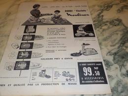 ANCIENNE PUBLICITE ROBOT CHARLOTTE   DE MOULINEX 1960 - Autres Appareils