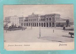 Small Postcard Of Stazione Ferroviaria,Palermo, Sicily, Italy,Q136. - Palermo