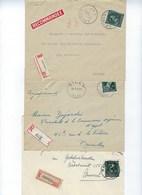11 Brieven - 10 % Per AANGETEKEND Verstuurd - Lettre Recommandé - Allen Verschillende Kantoren ! LOT 316 - 1946 -10%