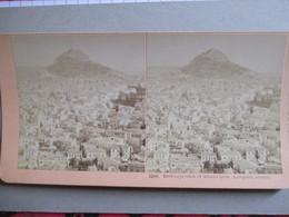 PHOTO STEREO  GRECE - ATHENES - Vue Aérienne - 1897 - Ed. Kilburn  BE - Photos Stéréoscopiques
