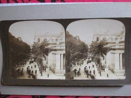 "PHOTO STEREO  CHINE - Hong-Kong - ""Queen Street ""  1903 - Ed. White   BE - Stereoscopio"