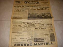 EQUIPE 02653 18.10.1954 FOOTBALL ALLEMAGNE FRANCE SALON AUTO Et CYCLE FOLLIS - Sport