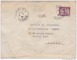 ANNAM LETTRE DE HANOI PARIS 1936 - Storia Postale