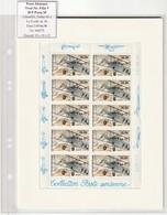 France Frankreich 1998 Michel 3310 C Kleinbogen Postfrisch, Yvert F62a** NsC 09.06.98, Potez 25, Poste Aérienne - Luchtpost