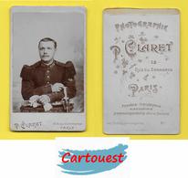 Albumen CDV Circa 1870 ♥️♥️☺♦♦ Sous-officier Du 103 ème Régiment D'infanterie - Photo Claret, Paris - Photographs