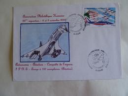 Enveloppe 80 HAM 28è Exposition Philatélique 8 & 9 Novembre 2008 Astronomie Aviation Patrouille De FRANCE CONCORDE - Avions