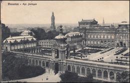Feldpost SB Ers.-Abtlg. Telegr.-Batl. Nr. 7 - 31.10.15 Auf AK Dresden Zwinger - Occupation 1914-18